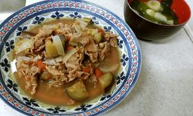 ✨牛肉の野菜スープ&ネギとワカメの味噌汁