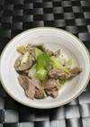 簡単砂肝とネギの塩胡椒炒め