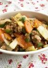 【給食レシピ】豚肉と白菜のみそ炒め