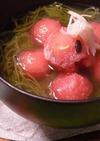 スイカともずくの冷たいスープ☆