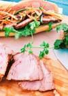 豚首で作る煮豚チャーシュー