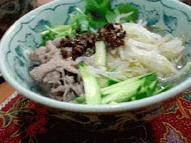 暑い時にはさっぱりと!タイ風素麺