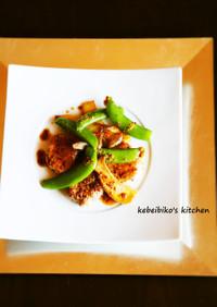豚ヒレ肉と季節の野菜のソテー