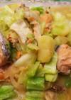 簡単美味・鮭のちゃんちゃん焼き