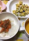 10ヶ月☆トマトご飯 たまご焼き スープ