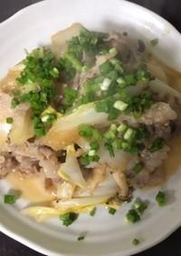 豚バラ肉と白菜の塩麹味噌だれ炒め