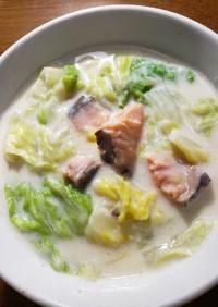 白菜と鮭のクリームシチュー