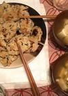 ひじきハンバーグと豆腐のお吸い物