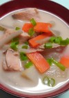 ほっこり温まる✳絶品!焼き鮭のかす汁