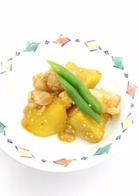 【病院】鶏肉と薩摩芋の甘辛炒め【給食】