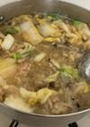 簡単白菜とツナときのこのみぞれ煮