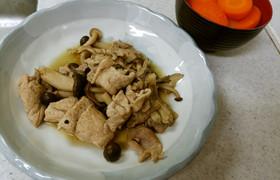 ❄豚肉のキノコバター炒め&人参の味噌汁❄