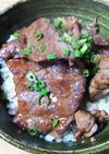 しょうゆ糀でニンニクバターライスの焼肉丼