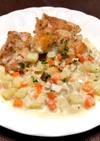 鶏肉ソテー*野菜クリームソース