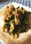 冷凍の小松菜で作る煮浸し