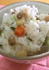 美人レシピ・炒り大豆炊き込みご飯