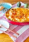 簡単☆里芋と長ネギの豆乳チーズ焼き