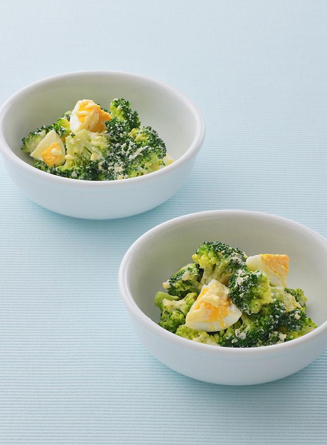 ブロッコリーとゆで卵のチーズマヨサラダ