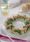 菜の花とグレープフルーツ生ハムのサラダ