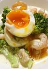 「海老ブロ卵サラダ♪」