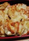 余ったお餅とチキンのトマトチーズ焼き☆