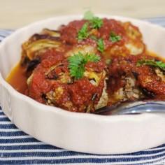 焼きロール白菜のトマトソース煮込み