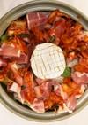 お手軽とろ〜りカマンベールチーズトマト鍋