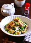 鶏もも肉と厚揚げのレンチン七味生姜白菜煮