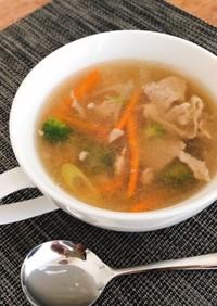 大根おろしと生姜と餅のスープ