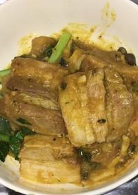 豚バラ肉の五香粉南瓜ソース