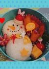 冬☆雪だるまのキャラ弁❤️