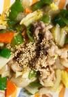 全てレンジ野菜たっぷり白菜でピリ辛回鍋肉