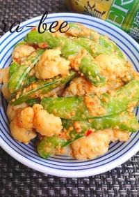 豆板醤味噌マヨで二色野菜のおつまみサラダ