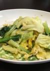 キャベツと小松菜の卵炒め