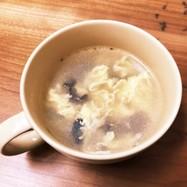 卵と木耳の中華スープ!