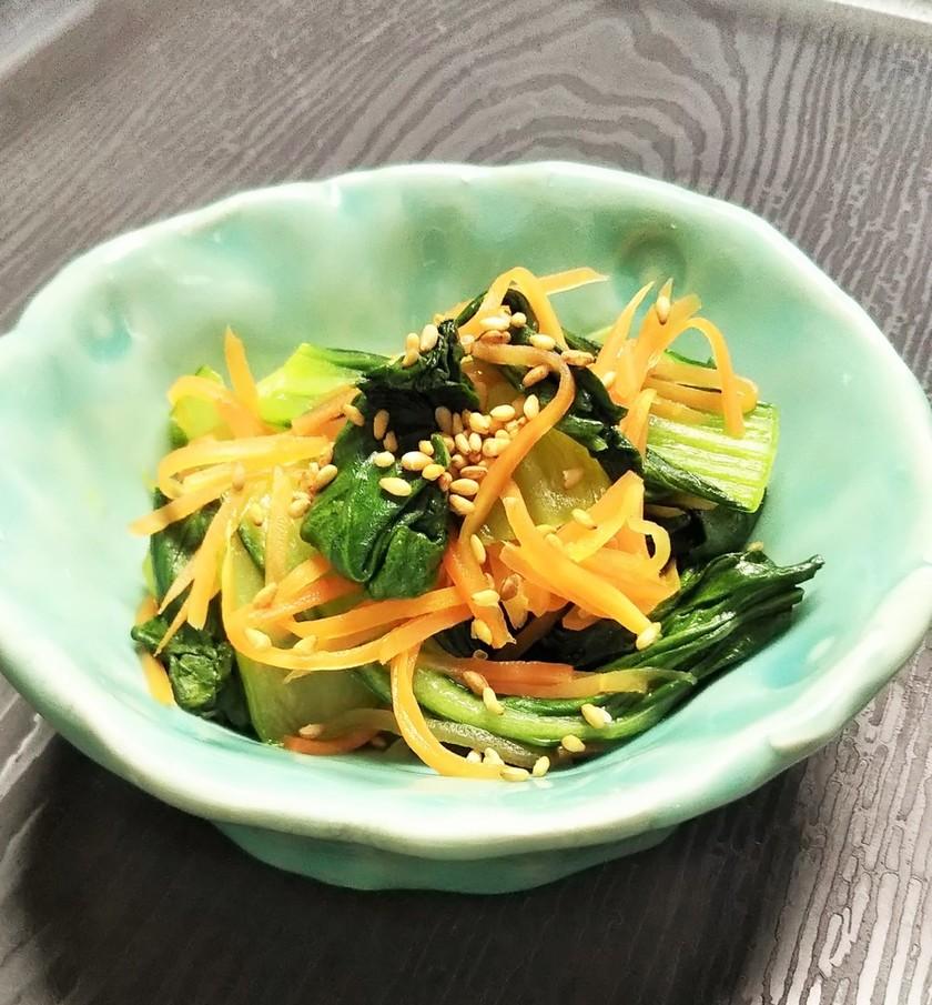 人参とチンゲン菜の簡単炒め物