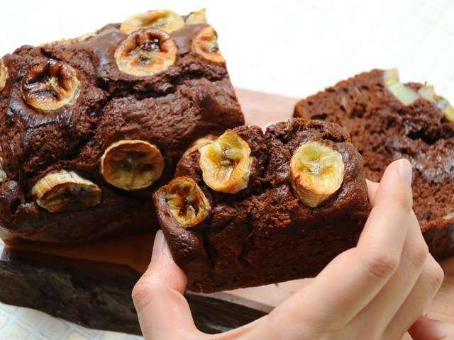 チョコバナナケーキ ホットケーキミックス