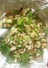 簡単!三種のきのこと小松菜のホイル焼き