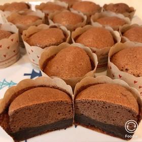 簡単大量!生チョコが入ったカップケーキ!