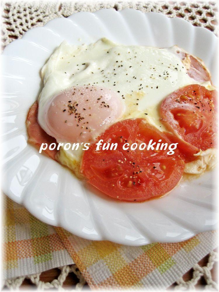 朝食に♪トマト&チーズハムエッグ
