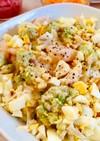 ロマネスコと小海老とたまごのサラダ