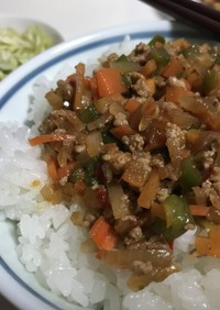 台湾風 豚ひき肉丼 白御飯食べ過ぎ注意!