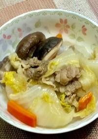 白菜と牛肉のミルフィーユ風・すき焼き風