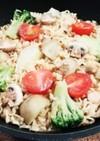 スプーンで食べるサッポロ一番☆パエリア風