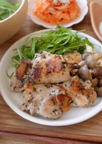 【冷凍ストック用】鶏肉のバジル焼き
