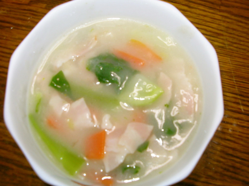 青梗菜の中華風クリームスープ
