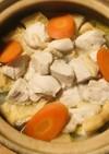 鶏むね肉と野菜&薄揚げプラスの鍋