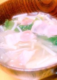 簡単一品♥白菜とえのきの生姜スープ