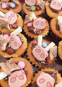 カップケーキを作って大量デコ!友チョコ♡