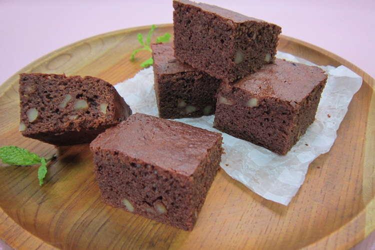 ブラウニー 簡単 チョコ 【オーブン不要】フライパンで「本格派ブラウニー」ができた♪